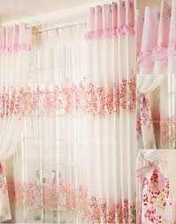 sweet home decoration floral girls room window curtains designs