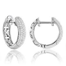 small diamond hoop earrings 14k gold diamond huggie hoop earrings 0 61ct