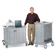 Laptop Desk Cart by Laptop Storage Carts Notebook Storage And Charging Carts From Anthro