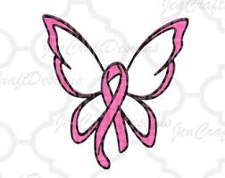 cancer butterfly svg etsy