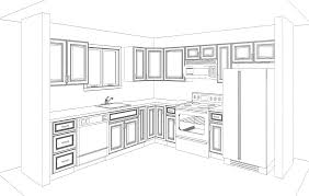 kitchen graceful kitchen room drawing perspective interior