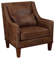 Uttermost Furniture Uttermost 23030 Clay Faux Leather Armchair Transitional