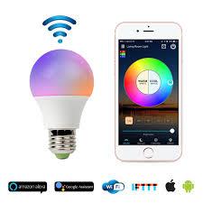 alexa light bulbs no hub smart wifi light bulb no hub required works with alexa 13 99