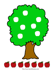 apple tree cut and paste activity with