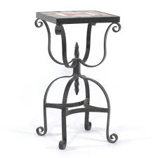Vintage Wrought Iron Patio Table And Chairs A Vintage Wrought Iron Tile Top Accent Table 10 24 13 Sold 247 25