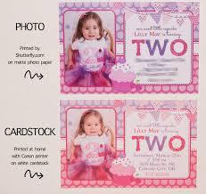 printable invitations cardstock or photo paper hilltop custom