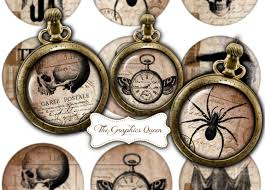 vintage halloween images 2 5 inches circles steampunk jewelry