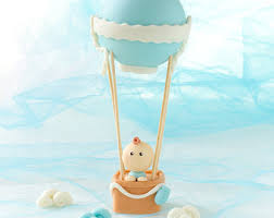 air cake topper hot air balloon fondant cake topper travel baby travel
