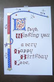 stephen u0027s calligraphy journal a gothic birthday card w decorated