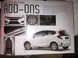 honda jazz car cover 2015 honda jazz accessories announced for india iab report