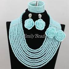 indian bead jewelry necklace images Fashion nigerian beads crystal african wedding jewelry set 2016 jpg