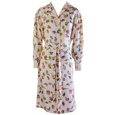 shell blouse hermes ivory silk shell print skirt and blouse at 1stdibs
