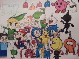 video game character birthday card drawing aquaman2811 2017