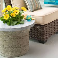 Side Patio Table Diy Hypertufa Outdoor Table