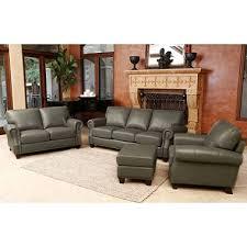 helena top grain leather sofa loveseat armchair and ottoman set