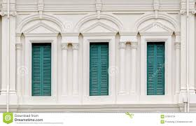 european style window with green shutters stock photo image