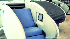 sleeping pods debut at abu dhabi airport youtube