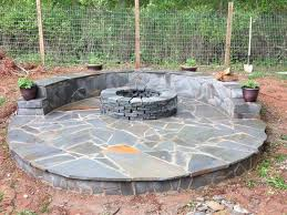 Build A Firepit How To Build A Pit With Circular Wrap Around Veneer Patio