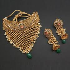 copper necklace set images Shop padmavati jewellery online from online store jewelmaze jpg