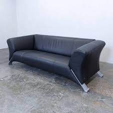 rolf sofa leder rolf 322 designer leather sofa black three seat modern
