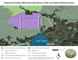 Ojai California Map Water District Plans To Siphon Groundwater From Ojai Mountains