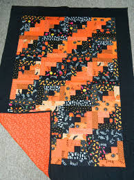 halloween log cabin quilt by nancy trower halloween quilts