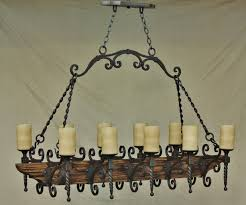 country italian log cabin tuscan chandelier hand forged wrought can also be used over a kitchen island and used as a pot rack made from hand forged hand hammered wrought iron