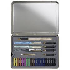 Staedtler Drafting Table Save On Discount Staedtler Deluxe Calligraphy Pen Tin Set Of 33