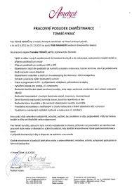 Healthcare Resume Objective Examples by Pracovní Posudek Zaměstnance Tomáš Fekiač
