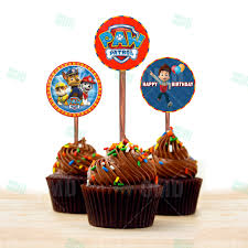 paw patrol cupcake toppers u2013 cartoon invites