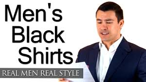 men u0027s black shirts a man u0027s guide to the black shirt wearing
