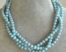 light blue statement necklace light blue necklace etsy