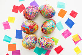 paper easter eggs hello wonderful sparkly diy glitter and tissue paper easter eggs