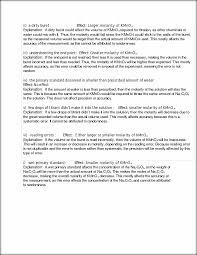 lab test ii a buret effect larger molarity kmno 4