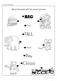 free worksheets opposite worksheet for kindergarten free math