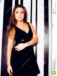 cool long hair young pretty cool fat brunette woman with long hair fashion