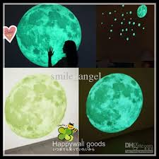 Home Decor Dropship Wall Sticker Glow Moon With Stars Children Room Home Decorations