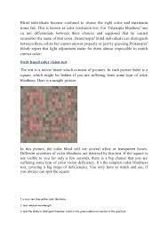 Color Blind Test Name Color Blindness Testing