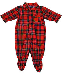 tom jerry boys plaid footie pajamas infant