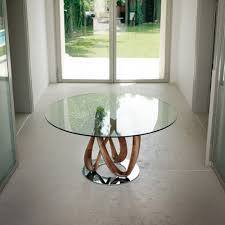 Luxury Glass Dining Table Round Glass And Oak Dining Table 59 With Round Glass And Oak
