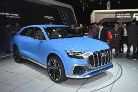 audi detroit audi q8 concept s bombay blue paint brightens 2017 detroit auto