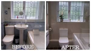 How To Remodel A Small Bathroom Before And After Small Bathroom Total Makeover Renovation Youtube