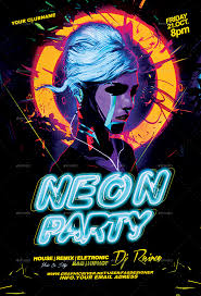 neon party neon party flyer by fas design graphicriver
