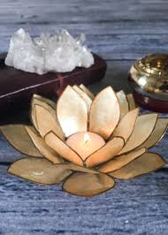 capiz shell lotus candle holder want home work pinterest