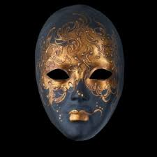 venetian mask autumn moon luxury venetian mask black