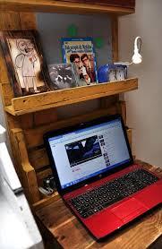 Mount Laptop Under Desk by Computer Desk Made Out Of Pallets U0026 Shelf