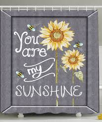 Shower Curtains With Quotes Sunflower Bathroom Accessories And Decor Sunshine Quotes
