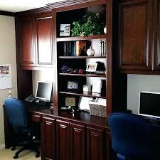 Computer Desk Built In Desk Custom Home Office Built Dual Built In Desks Computer Desk