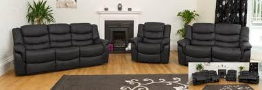 Recliner Sofa Suite Cheap Black Leather Recliner Sofa Best Uk Deals On Sofas To Buy