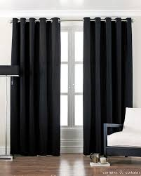 And Black Fabric For Curtains Excellent Black Bedroom Curtains For White Wooden Windows Frames